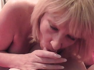 Erotic British horny mom suck penis and takes it doggy model