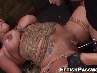 Busty Becca Diamond pussy toyed with hardcore strapon