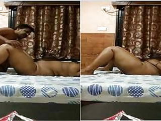 Desi indian fiery couple fucking missionary place