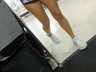 MLIF Vacationer no bra nipple slip upskirt shopping for bag