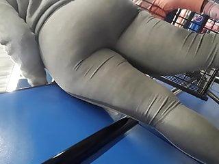 Vpl black mega big booty tease in gray leggings. Half 1