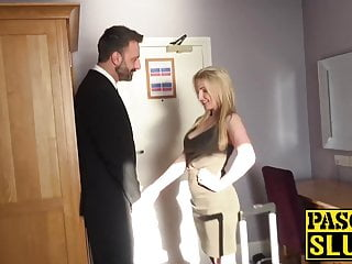 Gorgeous sub Georgie Lyall dominated with big cock