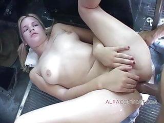 Blonde schoolgirl gets every single hole fucked hard
