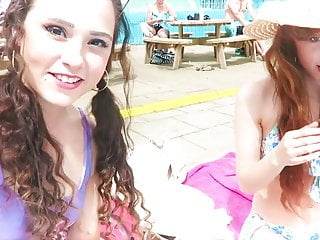 Beckii And Kelsey Go Swimming
