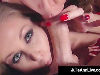 Shaft Sucking Cougars Julia Ann & Jessica Jaymes Milk A Cock!