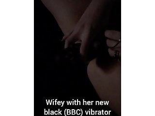 Wifey with original big black cock vibrator