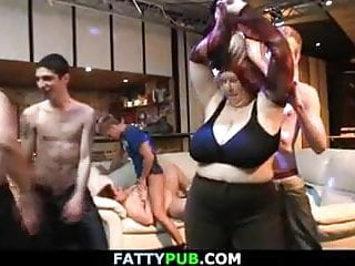Thick social gathering slut acquires cumsprayed after titty-fuck