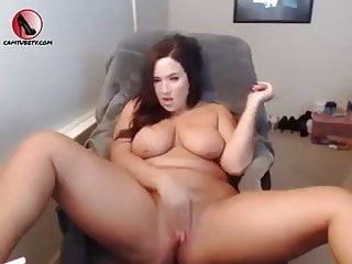 BBW school girl bitch masturbates on webcam