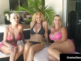 Charlee Chase Puma Swede & Vicky Vette Eat Cunt By The Pool