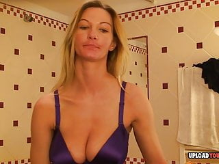 Aroused blonde horny mommy information herself whereas dressing