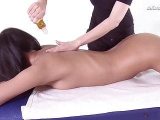 1st time therapeutic massage for blistering virgin Asian