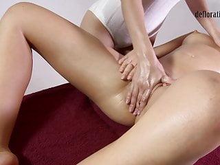 Crazy virgin vagina therapeutic massage orgasms