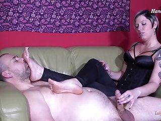 Foot smelling & Handjob
