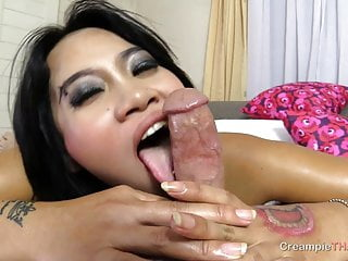Lust over immense Thai melons then creampie her