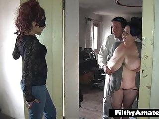 Double ass Penetration! DAP for nasty milf in honest orgy!