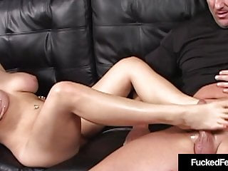 Fiery Blonde Dayna Vendetta With Measurement 9 Ft Provides A Footjob!