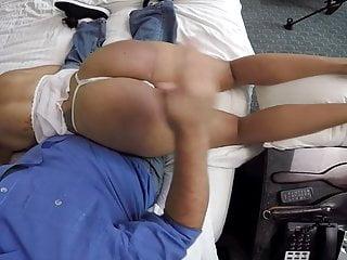 POV spanking latina cutie