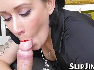 Stylish lady fulfills all fantasies to nasty senior man