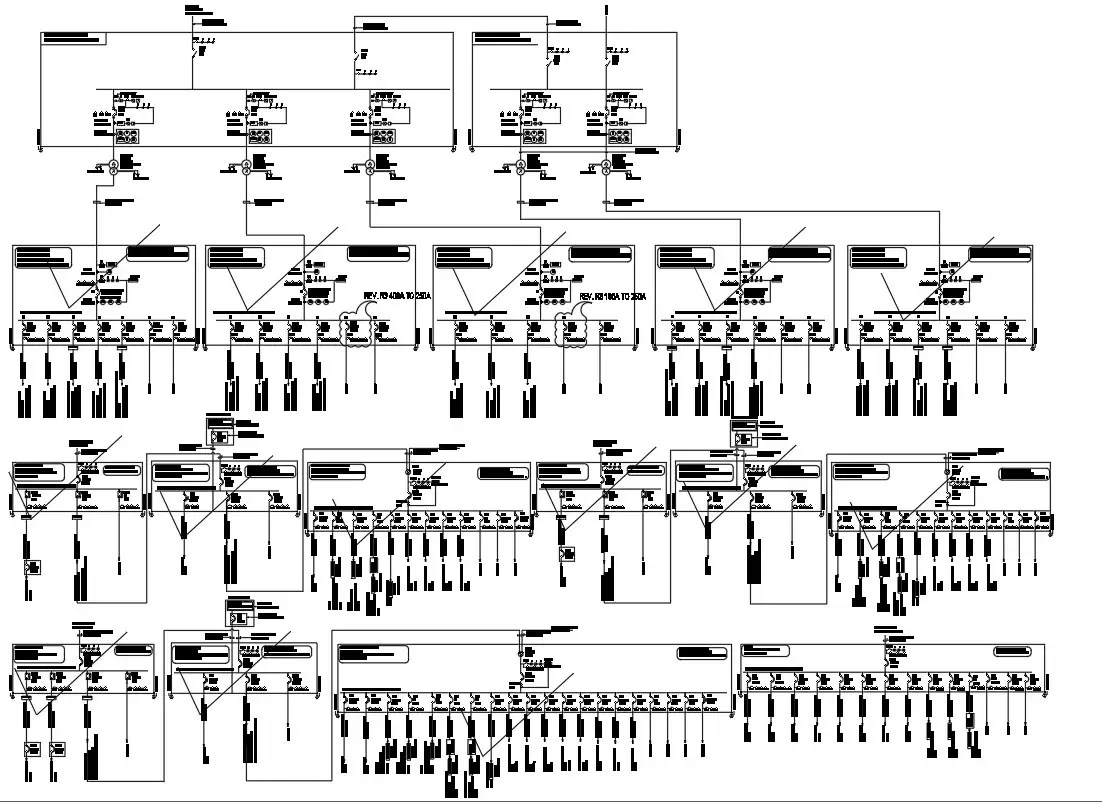 Cad Dwg Drawing File Has The Detail Of Electrical Network
