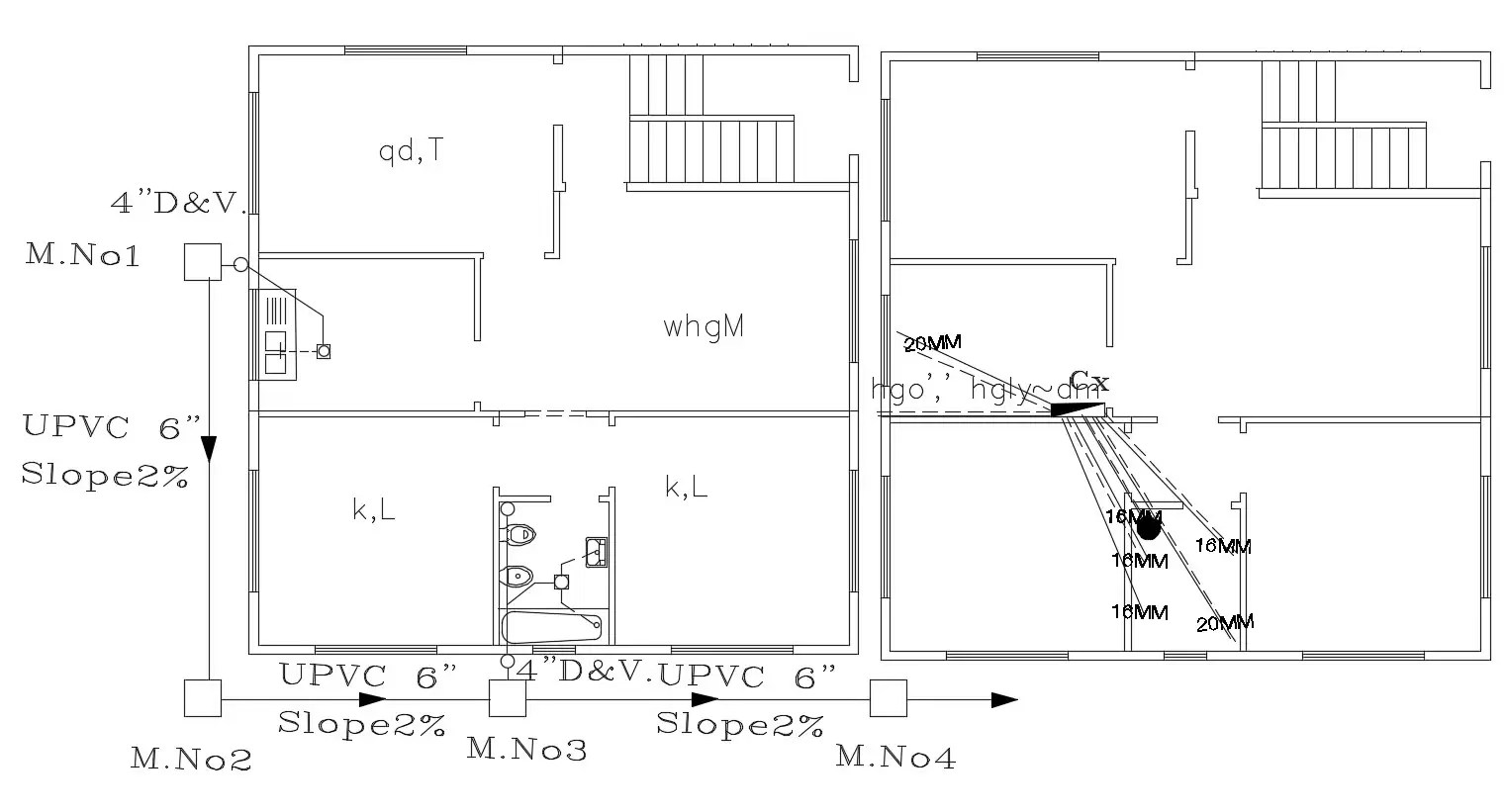 Electrical And Plumbing Layout Plan Cad File