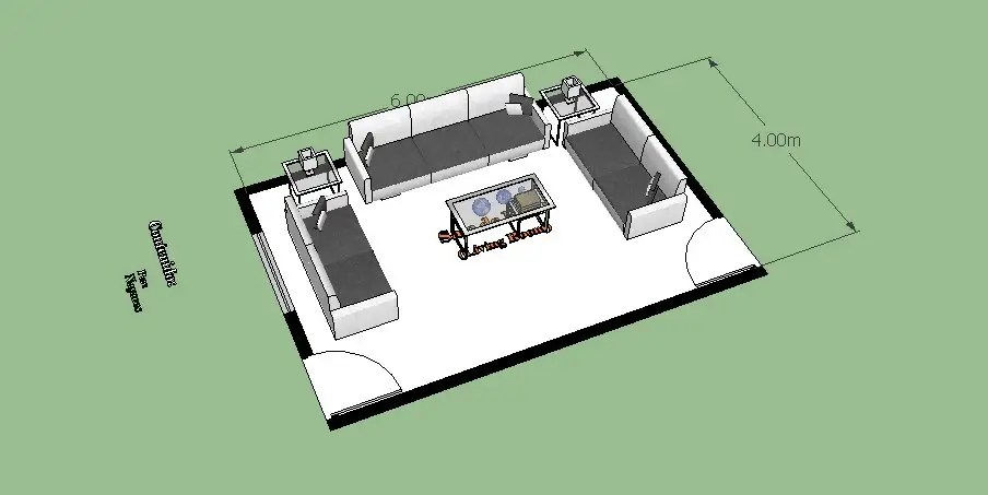 Modern drawing room furniture blocks 3d cad drawing ...