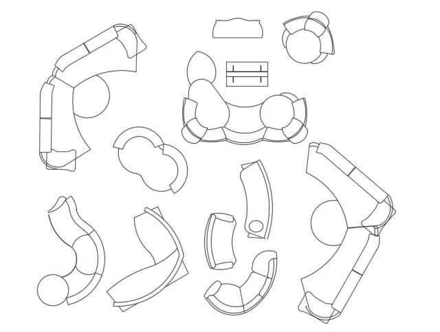 Modern Sofa Design CAD Blocks Free Download - Cadbull