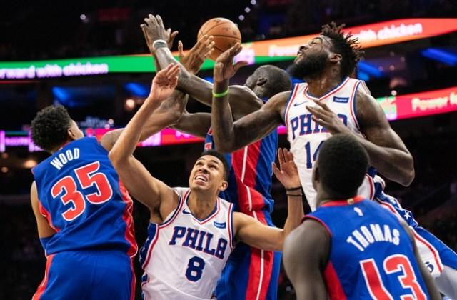 ผลการค้นหารูปภาพสำหรับ Philadelphia 76ers Detroit Pistons