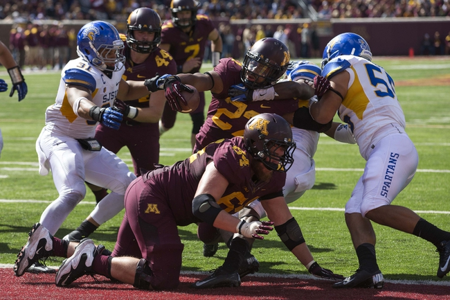 5f54e2973 (Source) Minnesota s alternate home uniforms worn in a 24-7 victory over  San Jose State.