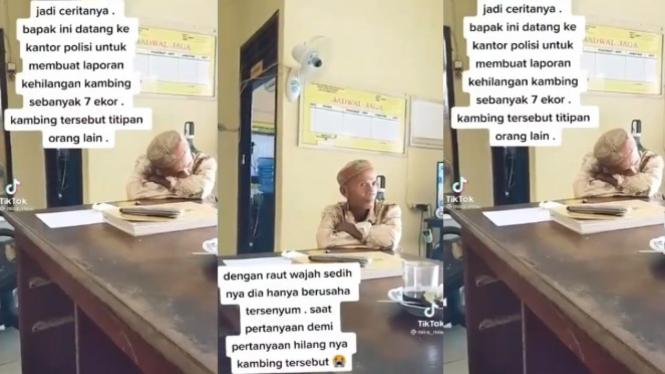 Viral Pak Tua Bingung Kehilangan 7 Ekor Kambing, Netizen: Donasi Yuk