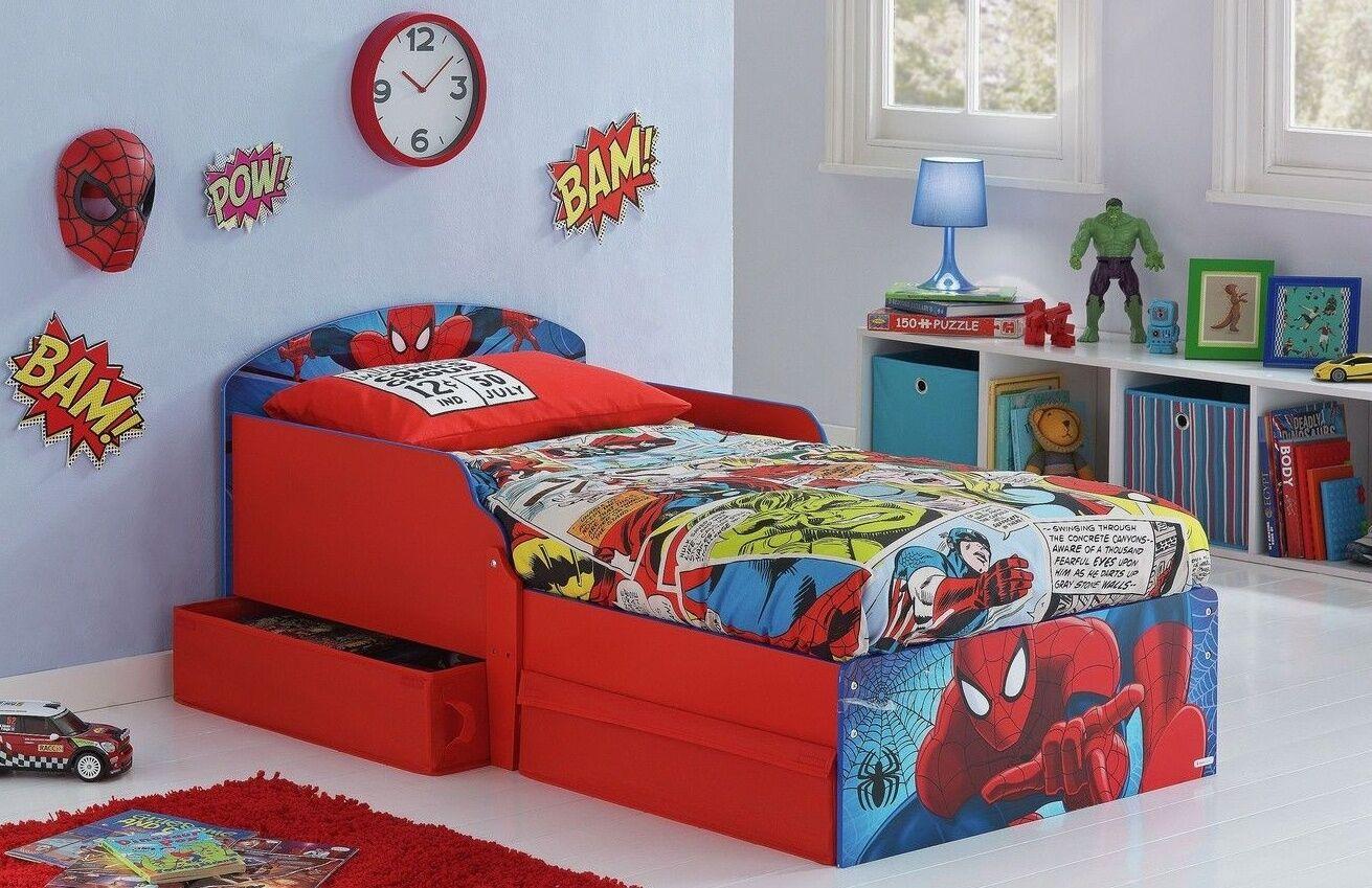 Sleeper Toddler Bed Drawers Spiderman Kids Bunk Beds Disney Children Furniture Zeppy Io