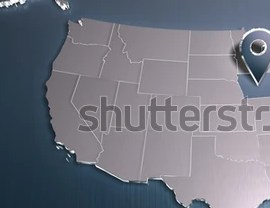 HD Decor Images » Iowa USA Map 3 D Render Other Stock Illustration 136292363     Iowa  USA map  3D render  For other states see portfolio  For other