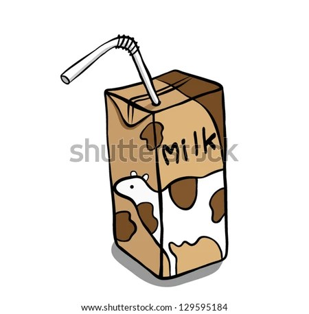 Chocolate Milk Carton Clipart