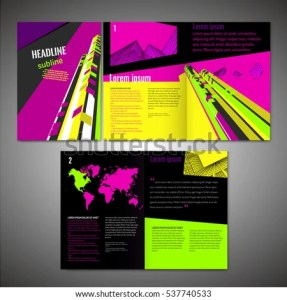 Vector Business Brochure Template Modern Idea Stock Vector 537740533     Vector business brochure template  Modern idea for flyer  book  booklet   brochure and