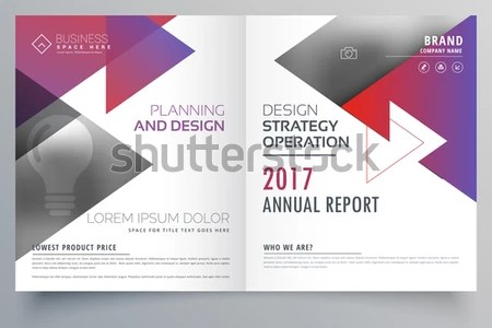 Bifold Brochure Template Design Triangle Shapes Stock Vector     bifold brochure template design with triangle shapes