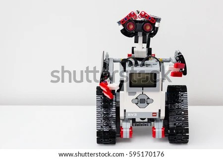 Minsk Belarus February 26 2017 Lego Stock Photo  Edit Now  595170176     Minsk  Belarus   February 26  2017  Lego robot  Robotics  School