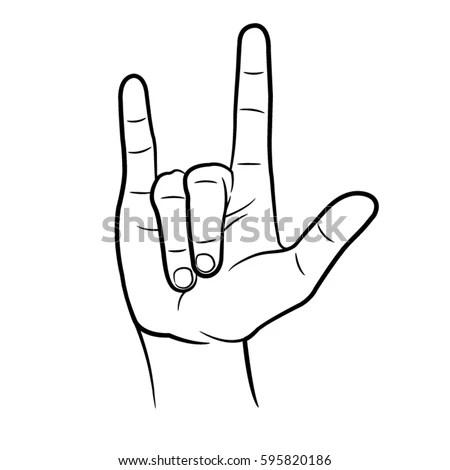 Download Love You Hand Stock Vector 595820186 - Shutterstock
