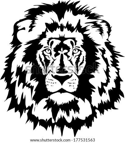 Lion Head Stock Vector 177531563 Shutterstock