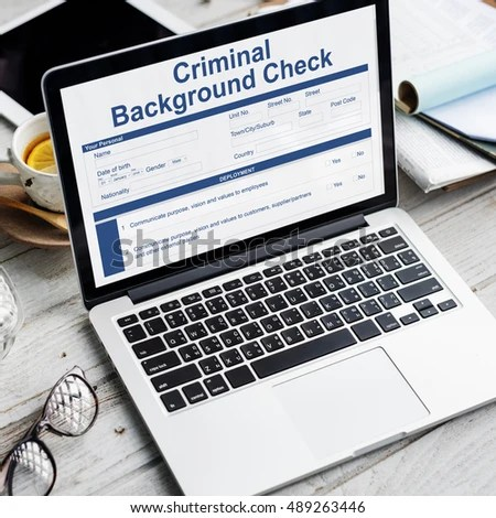 Criminal Background Check Insurance Form Concept Stock Photo  Edit     Criminal Background Check Insurance Form Concept