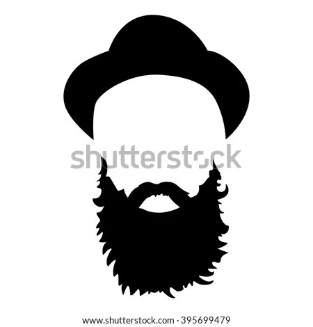 Hipster Detailed Hat Beards Fashion Bearded Stock Vector