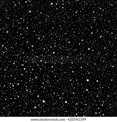 Silver Spangles Night Sky Stars Vector Stock Vector