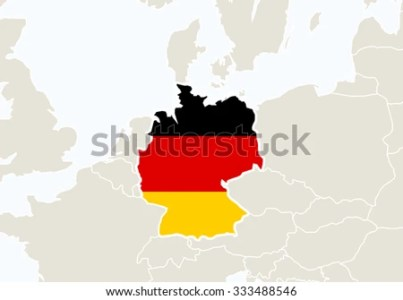 Europe Highlighted Germany Map Vector Illustration Stock Vector     Europe with highlighted Germany map  Vector Illustration