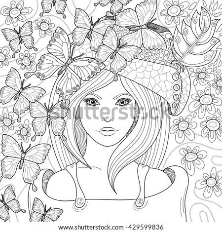 Vector Hand Drawn Pattern Anti Stress Stock Vector