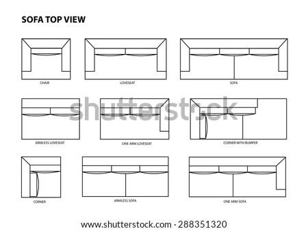 Sofa Top View Vector