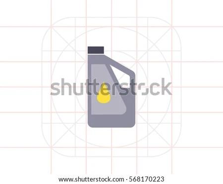 Plastic Bottle Of Engine Oil Flammable Liquids Stock Images Royalty Free Vectors