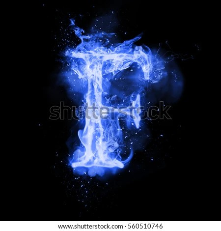 Fire Letter F Burning Blue Flame Stock Illustration 560510746     Fire letter F of burning blue flame  Flaming burn font or bonfire alphabet  text with