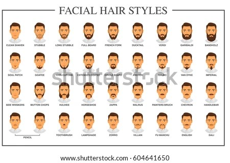 types of facial hair styles the expanded facial hair style chart the ron swanson guide to