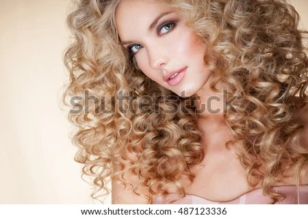 Beautiful Blonde Woman Healthy Long Blond Stock Photo