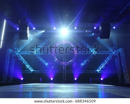 Empty Runway Fashion Show Catwalk Moving Stock Photo  Edit Now     Empty Runway Fashion Show catwalk with moving beam lighting along walk way   background stage ramp