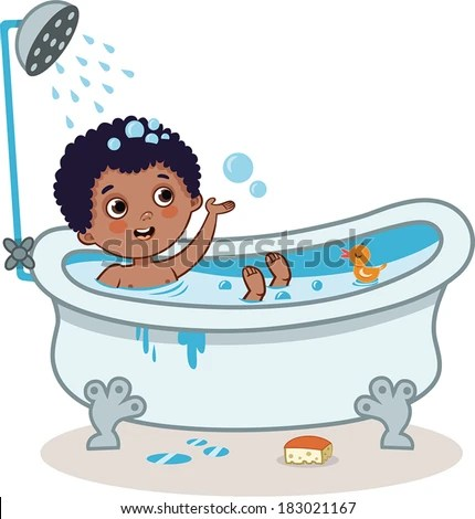Kid Bathing Stock Images Royalty Free Images Amp Vectors
