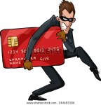 A thief with a credit card raster version